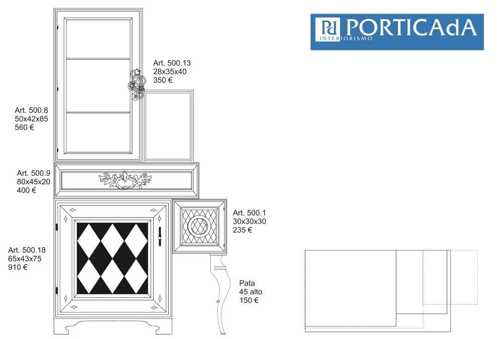 VARIOS PERSONALIZADO COMPOSICIÓN 1 opción inicial moviendo cubo 5 cms y haciendo modulo rombos -1