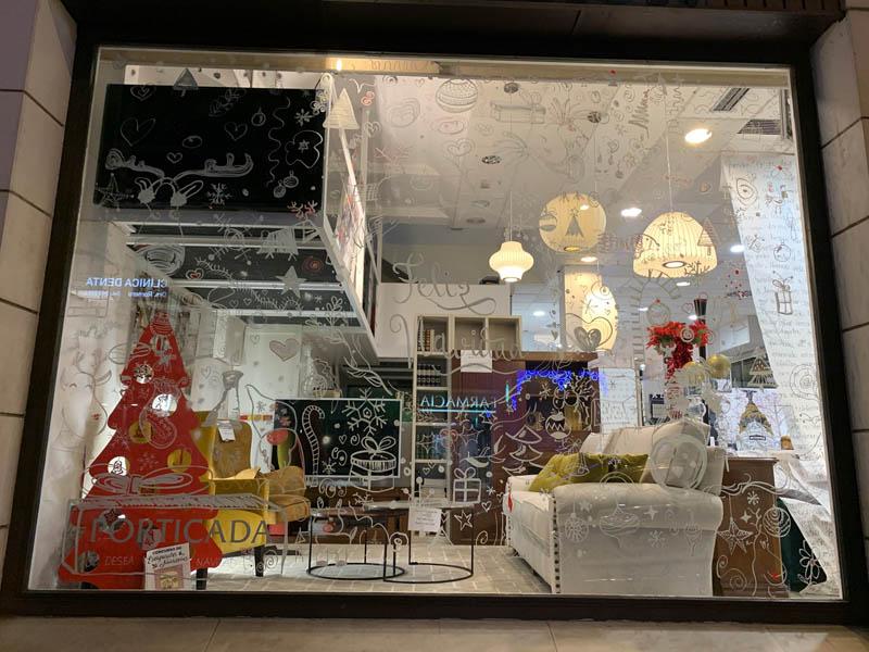 Porticada en el concurso de escaparates navideños de Castilla-La Mancha